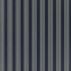 Signature Papers II Wallpaper | Palatine Stripe - Midnight | Papeles pintados | Designers Guild