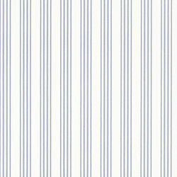 Signature Papers II Wallpaper | Palatine Stripe - Porcelain Blue | Carta da parati | Designers Guild