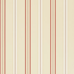 Signature Papers II Wallpaper | Dunston Stripe - Vermilion | Wall coverings | Designers Guild