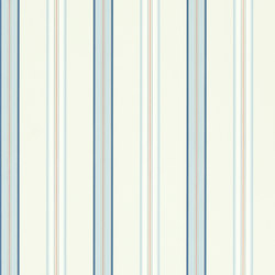Signature Papers II Wallpaper | Dunston Stripe - Navy | Wallcoverings | Designers Guild