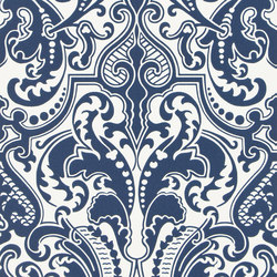 Signature Papers II Wallpaper | Gwynne Damask - Porcelain | Papeles pintados | Designers Guild