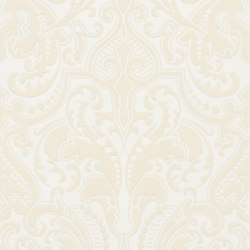 Signature Papers II Wallpaper | Gwynne Damask - Cream | Papeles pintados | Designers Guild