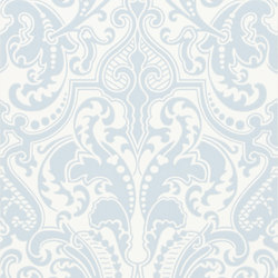 Signature Papers II Wallpaper | Gwynne Damask - Sky | Wandbeläge / Tapeten | Designers Guild
