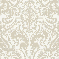 Signature Papers II Wallpaper | Gwynne Damask - Laurel | Wallcoverings | Designers Guild