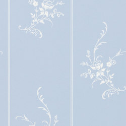 Signature Papers II Wallpaper | Elsinore Floral - Wedgwood | Papeles pintados | Designers Guild