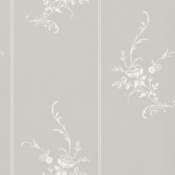 Signature Papers II Wallpaper | Elsinore Floral - Platinum | Wall coverings | Designers Guild