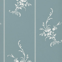 Signature Papers II Wallpaper | Elsinore Floral - Peacock | Papeles pintados | Designers Guild