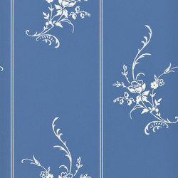 Signature Papers II Wallpaper | Elsinore Floral - Porcelain | Carta da parati / carta da parati | Designers Guild