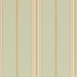 Stripes And Plaids Wallpaper | Marden Stripe - Linen / Sage | Carta da parati | Designers Guild