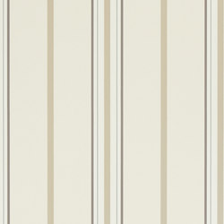 Stripes And Plaids Wallpaper | Marden Stripe - White / Tan | Papiers peint | Designers Guild