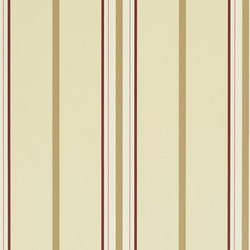 Stripes And Plaids Wallpaper | Marden Stripe - Cream / Tan / Red | Papeles pintados | Designers Guild