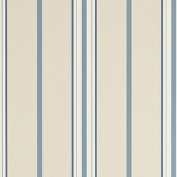 Stripes And Plaids Wallpaper | Marden Stripe - Cream / Navy | Wandbeläge | Designers Guild