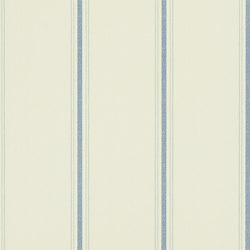 Stripes And Plaids Wallpaper | Garfield Stripe Cream / Navy | Wall coverings / wallpapers | Designers Guild