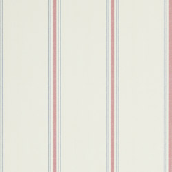 Stripes And Plaids Wallpaper | Garfield Stripe - Ivory / Red / Navy | Wallcoverings | Designers Guild