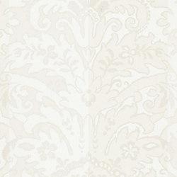 Stripe Library Wallpaper | Delano Stripe - Pearl | Wallcoverings | Designers Guild