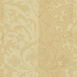 Stripe Library Wallpaper | Delano Stripe - Tea | Wallcoverings | Designers Guild