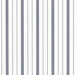 Stripe Library Wallpaper | Trevor Stripe - Navy | Wallcoverings | Designers Guild