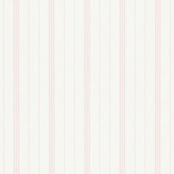 Stripe Library Wallpaper | Trevor Stripe - Pink | Wall coverings | Designers Guild