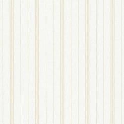 Stripe Library Wallpaper | Trevor Stripe - Tea | Wandbeläge | Designers Guild
