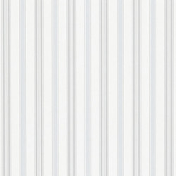 Stripe Library Wallpaper | Basil Stripe - Pastel Blue | Wandbeläge / Tapeten | Designers Guild