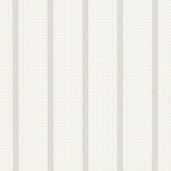 Stripe Library Wallpaper | Wellman Stripe - Grey / Cream | Wandbeläge | Designers Guild