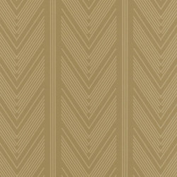 Stripe Library Wallpaper | Onyx Club Stripe - Gold | Papeles pintados | Designers Guild