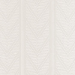 Stripe Library Wallpaper | Onyx Club Stripe - Silver | Papiers peint | Designers Guild