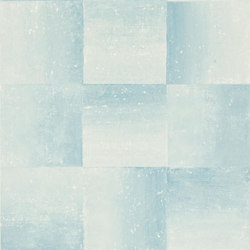 Savine Wallpaper | Piastrella - Aqua | Wallcoverings | Designers Guild