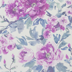 Shanghai Garden Wallpaper | Shanghai Garden - Violet | Wall coverings | Designers Guild