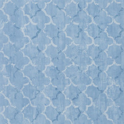 Shanghai Garden Wallpaper | Chinese Trellis - Cobalt | Wall coverings / wallpapers | Designers Guild