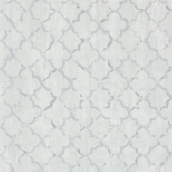 Shanghai Garden Wallpaper | Chinese Trellis - Platinum | Wall coverings | Designers Guild