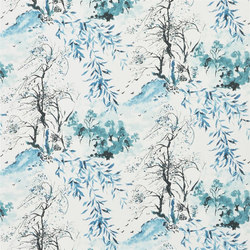Shanghai Garden Wallpaper | Winter Palace - Azure | Wall coverings / wallpapers | Designers Guild