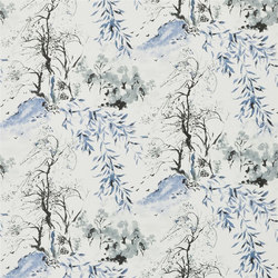 Shanghai Garden Wallpaper | Winter Palace - Indigo | Wall coverings | Designers Guild