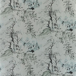 Shanghai Garden Wallpaper | Winter Palace - Silver | Wall coverings / wallpapers | Designers Guild