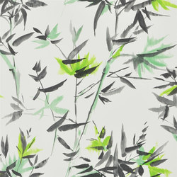 Shanghai Garden Wallpaper | Bamboo - Lime | Wall coverings / wallpapers | Designers Guild
