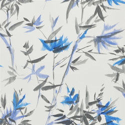 Shanghai Garden Wallpaper | Bamboo - Cobalt | Wall coverings | Designers Guild