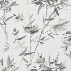 Shanghai Garden Wallpaper | Bamboo - Graphite | Wallcoverings | Designers Guild