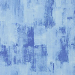 Shanghai Garden Wallpaper | Marmorino - Cobalt | Wall coverings / wallpapers | Designers Guild