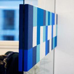 AGORApanel special Rechteck 1,2 x 0,6 x 0,03 für Glaswände – jeweils 2 Elemente  AN 911-0621 | Panneaux muraux | AGORAphil