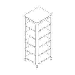 Concept Kitchen – Shelf Module 1900x730x640 | Cucine modulari | n by Naber
