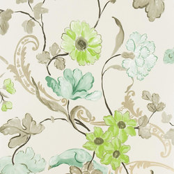 Whitewell Wallpaper | Whitewell - Silver | Wandbeläge | Designers Guild