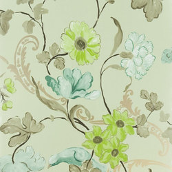 Whitewell Wallpaper | Whitewell - Celadon | Papeles pintados | Designers Guild