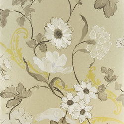 Whitewell Wallpaper | Whitewell - Gold | Papiers peint | Designers Guild