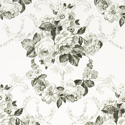Whitewell Wallpaper | Wharton - Black And White | Wall coverings | Designers Guild