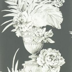 Zephirine Wallpaper | Palmieri - Charcoal | Papeles pintados | Designers Guild