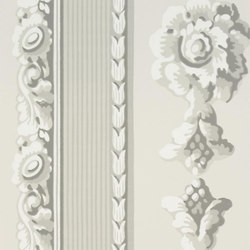 Zephirine Wallpaper | Palazzetto - Platinum | Wallcoverings | Designers Guild
