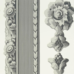 Zephirine Wallpaper | Palazzetto - Charcoal | Wallcoverings | Designers Guild
