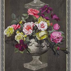 Zephirine Wallpaper | Ornamental Garden Panel Print - Slate | Wandbeläge | Designers Guild