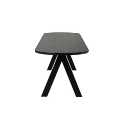 Saw Bench marble black rounded | Bancs | Friends & Founders