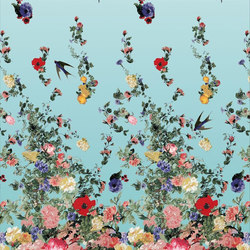 Arles Fabrics | Vuelta - Multicolor Panel Print | Curtain fabrics | Designers Guild